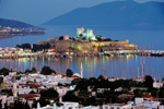 Yacht charters including the spectacular Bodrum town